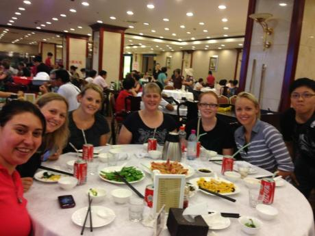 DumplingS!! Suzette Booyens, Myself, Ina Kaplan, Lyndall Hulley, Taylor Meyer and Jasmin Ouschan and Alison Chang.