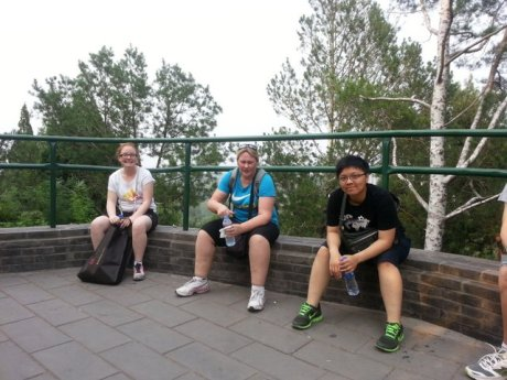 Jingshan park, on our way to the top. How many steps can you climb in one day....