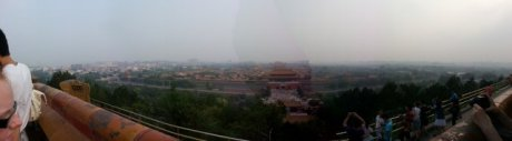 Finally on the top of Jingshan park! Now you realize the size of the Forbidden City. Amazing