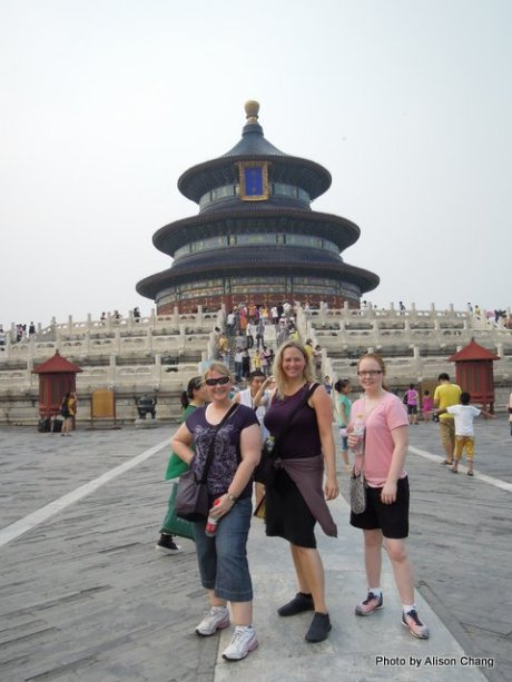 Temple of Heaven. Lyndall Hulley, Myself and Taylor Meyer on the meridian. Alison Chang behind the camera:)