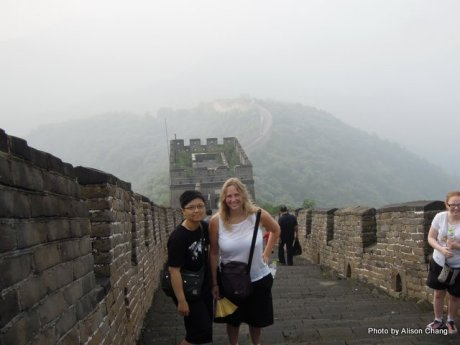 The Great Wall. Alison Chang and I