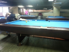 Practice session at Mr Tu's poolhall