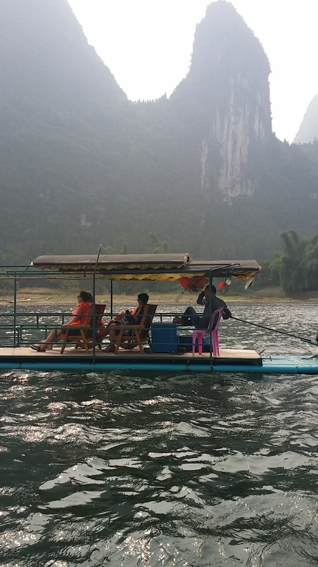 Li River, boat With Alison Chang, Jasmin Michel and Kristina Schagan